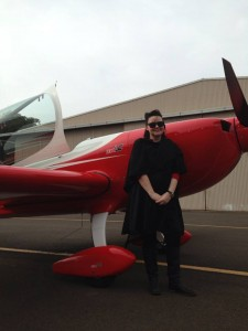 Kreisha after her flight in an Extra 330