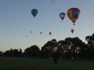 Balloons flying over Leeton (Grant's in there somewhere :) )