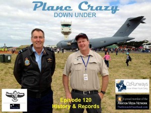 Air Marshal Geoff Brown with Steve at Pt Cook