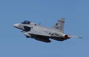 RTAF SAAB Jas 39 Gripen departing Darwin