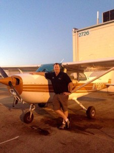 Steve with the AirWork Cessna 172 he flew over Las Vegas