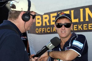 Steve chats with Matt Hall at the Red Bull Air Race in Las Vegas