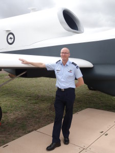 GPCAPT Guy Adams in front of the Triton mockup