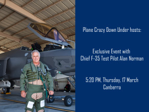 Chief F35 Test Pilot Alan Norman